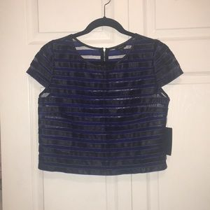Guess Tops - Guess Striped Crop Top